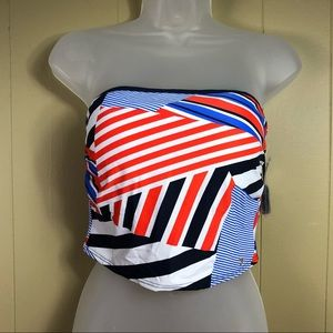 👙 NWT Tommy Hilfiger Bandini Top Core Navy Straps